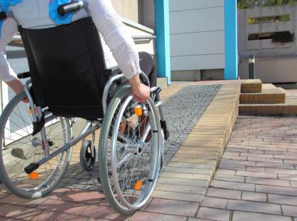 photo of a man in a wheelchair