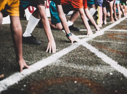 photo of runners on their mark